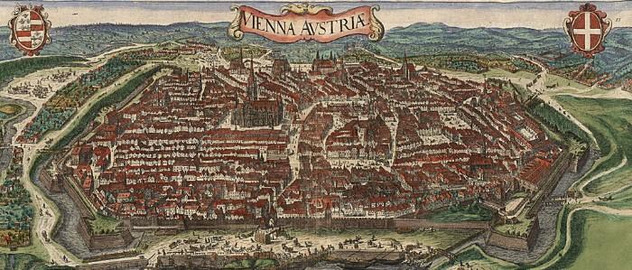 Stará mapa Viedne
