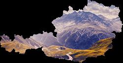 Rakúsko mapa