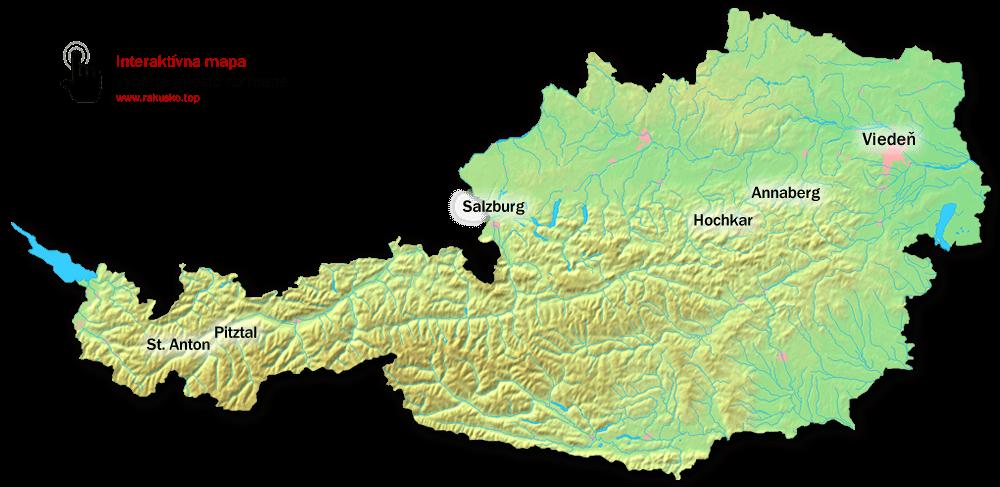 Rakusko Mapa