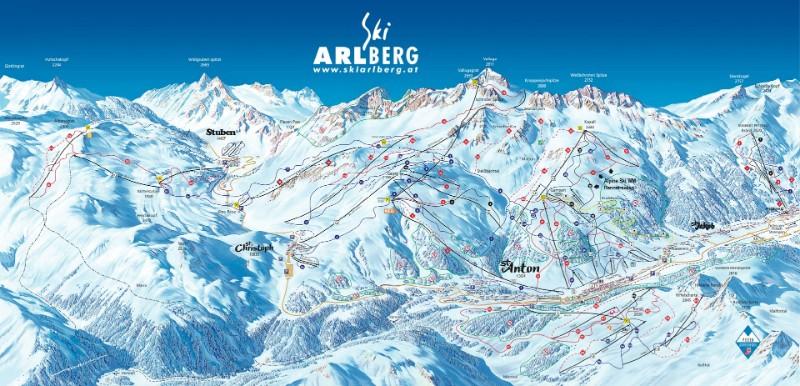 St anton lyžovanie mapa